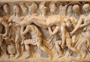 Corpo de Heitor sendo levado de volta à Troia.