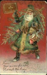 Papai Noel vestido de verde, 1908