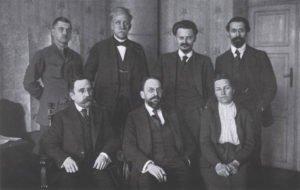 Delegação bolchevique em Brest-Litovsky.