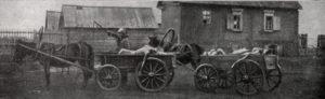 Cadáveres em carroças