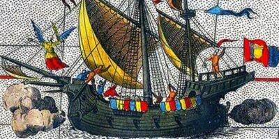 Nau Vitória, a única a retornar da primeira viagem de circunavegação da História.
