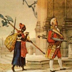 Oficial da Corte indo ao Palácio, Rio de Janeiro, de Jean-Baptiste Debret, 1822