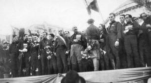 Encontro dos fascistas em Nápoles