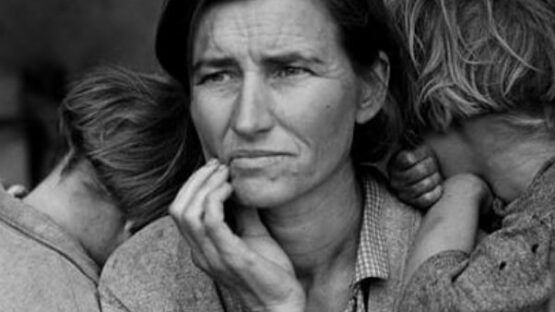 """Mãe Migrante"", de Dorothea Lange, 1936."