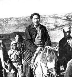 Mao Tsé-Tung durante a Grande Marcha.