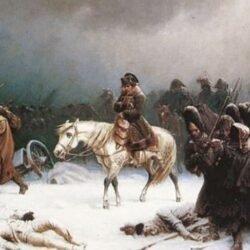 Napoleão se retirando de Moscou, por Adolphe Northen