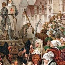Filipe IV prendeu todos os templários em território francês incluindo seu grão-mestre Jacques de Molay