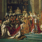 """A coroação de Napoleão Bonaparte"""", detalhe, Jacques-Louis David, 10 m x 6 m, 1807, Museu do Louvre, Paris"""