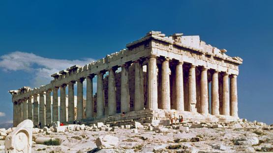 o desmonte do Parthenon, célebre templo erguido no século V a.C. na acrópole de Atenas