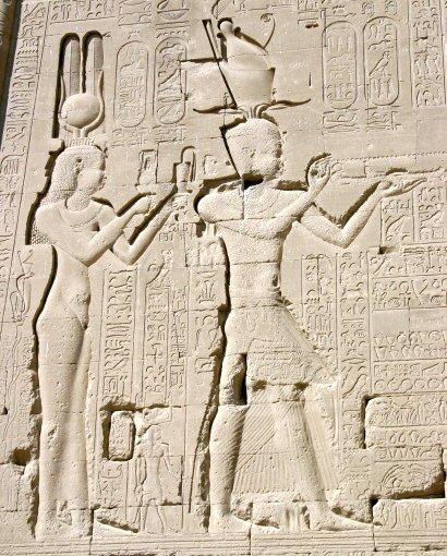 Relevo de Cleópatra e filho