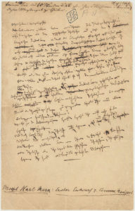 Página manuscrita do Manifesto Comunista