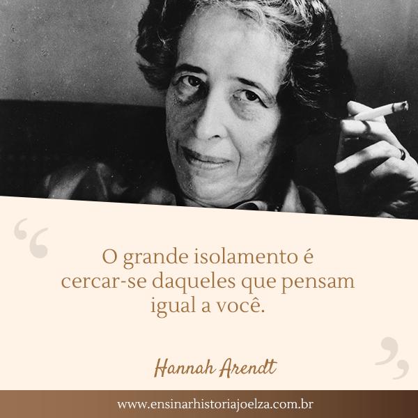 Frase Hannah Arendt