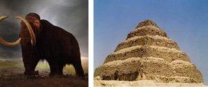 Mamute lanoso e pirâmide de Djoser