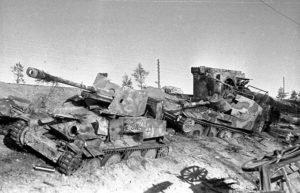 Tanques alemães destruídos