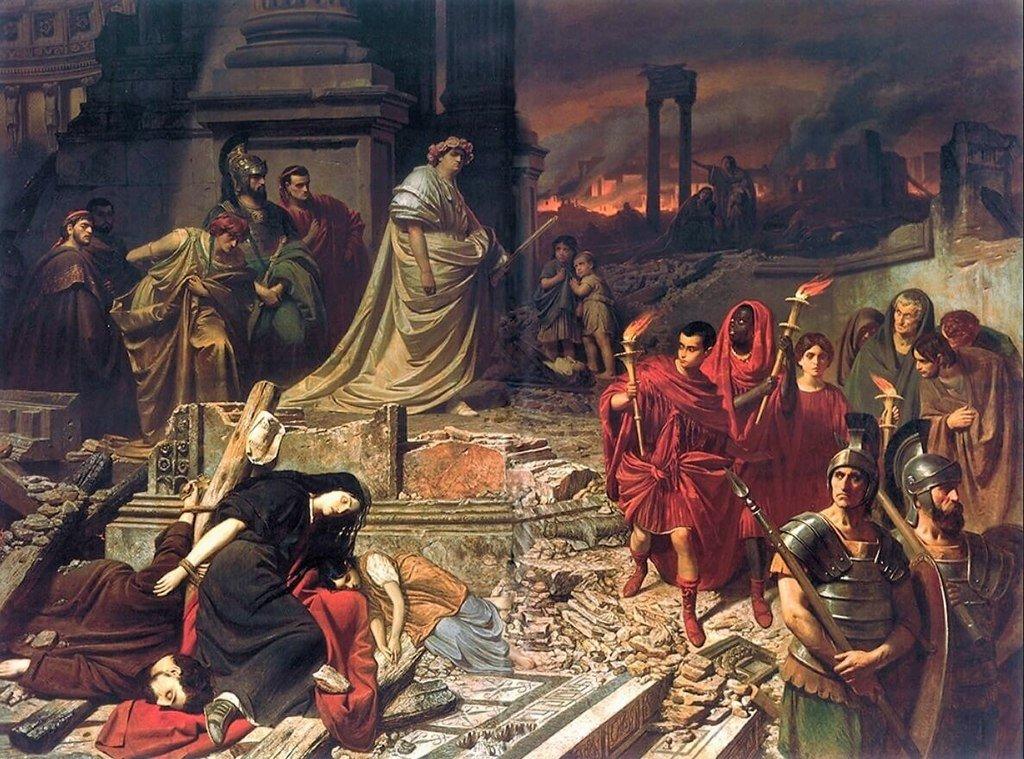 Nero vê a queima de Roma