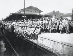 Voluntários paulistas a espera do embarque