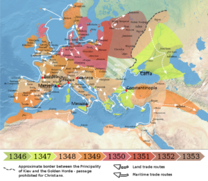 Difusão da peste na Europa