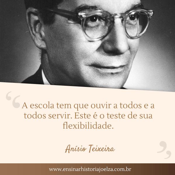 Frase Anísio Teixeira