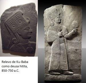 Baixo relevo da deusa Ku-Baba