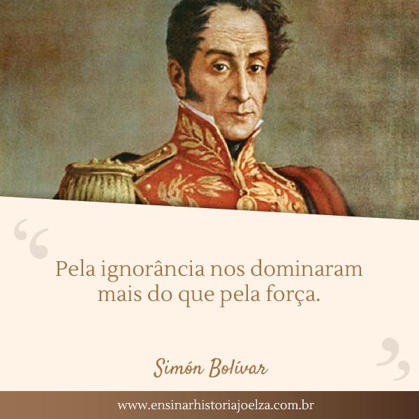 Frase Simon Bolivar